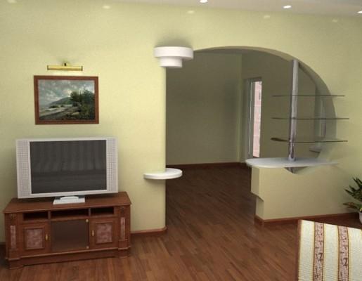 Інтерєр міжкімнатних арок для ремонту у квартирі.