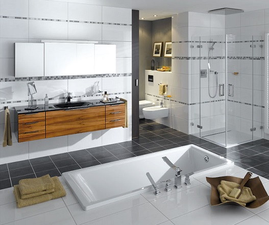 Стильний ремонт ванної кімнати - фото
