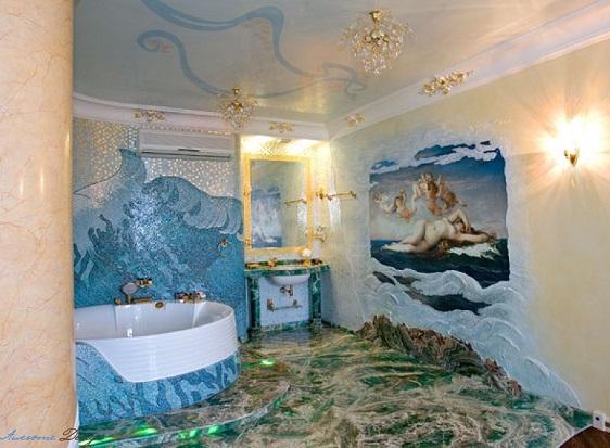 гарний ремонт у ванній кімнаті, дивимося фото