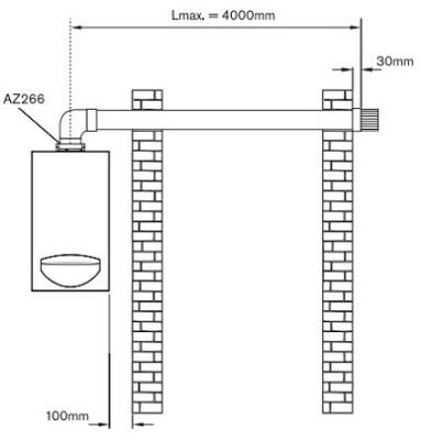 Схема газової колонки - турбо.