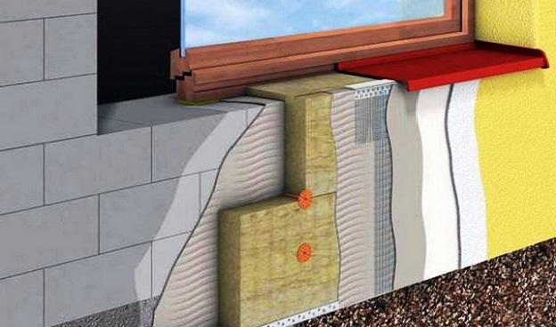 технологія утеплення фасадів мінеральною ватою