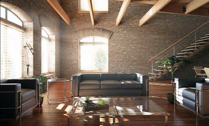 """Інтер'єр кімнат і меблі в стилі """"лофт"""""""