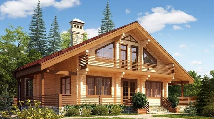 Будинки з дерева.