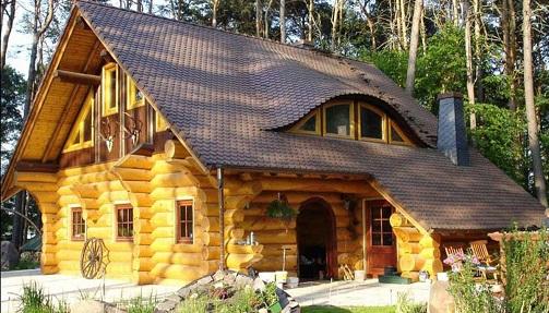 будинки з дерева і його фото
