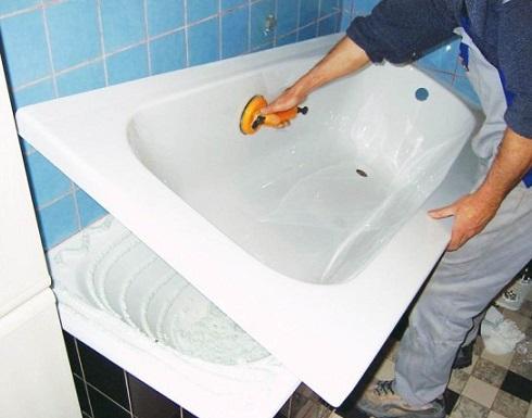 Як зробити отвори в акриловій ванні?