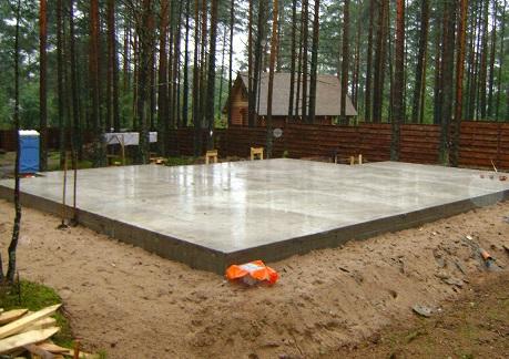 Фундамент плаваючого типу для каркасного будинку.