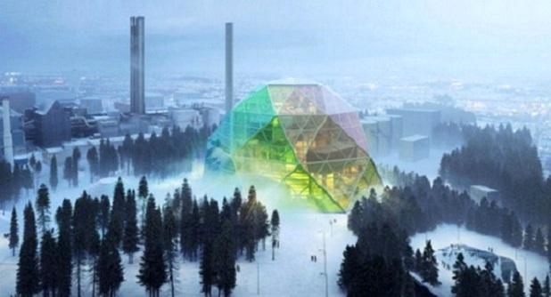 Будівництво електростанції у Швеції.