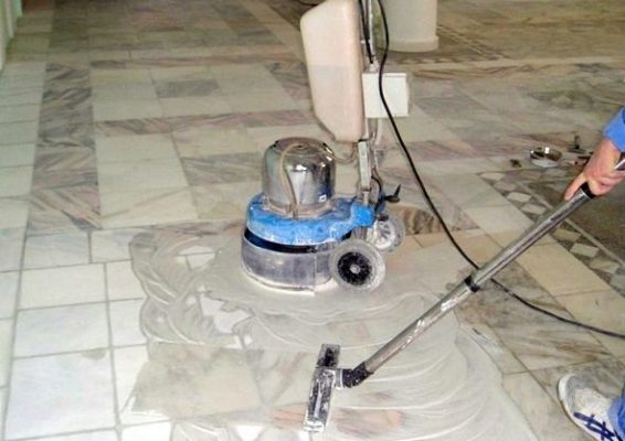 Шліфування і полірування (кам'яної) гранітної підлоги