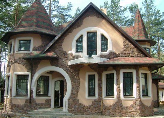 Приклад обробки фасаду каменем.