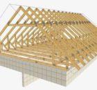 Кроквяна система мансардного даху.